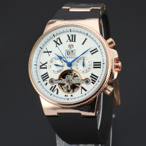 Fashion Automatic movement skeleton mens watch