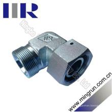 Adaptador de 90 métricas con conector de tubo hidráulico de tuerca giratoria (2C9)
