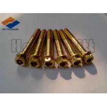 golden Gr5 titanium flange bolt