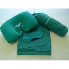 Kits de manta de máscara de ojos de almohada de cuello de bolsa de vellón