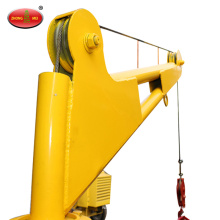 1 ton small hydraulic lifting fold arm truck crane