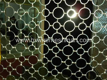 Decorative Stainless Steel Chainmail Mesh For Archtecture