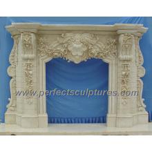 Cheminée en marbre en marbre pour cheminée (QY-LS256)