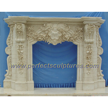 Stone Marble Fireplace for Fireplace Mantel (QY-LS256)