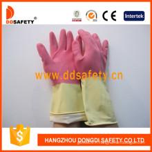Gants latex / caoutchouc DIP Flock Liner pour le lavage de nettoyage (DHL215)