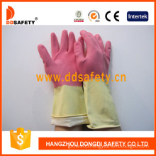 Latex/Rubber Gloves DIP Flock Liner for Cleaning Washing (DHL215)
