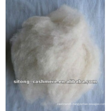Pure light grey dehaired cashmere fibre