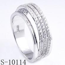 Neue Design Micro Pave Zirkonia 925 Silber Ring (S-10114)