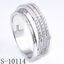 New Design Micro Pave Zirconia 925 Silver Ring (S-10114)
