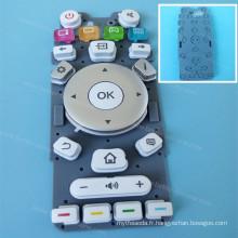 Couverture faite sur commande de clavier de silicone pour la garniture de bouton