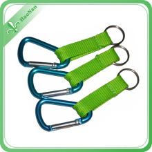 Porte-clés en aluminium promotionnel fait sur commande de mousqueton de sport