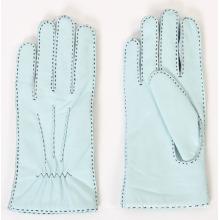 Lady Outside Sewing Schaffell Leder Mode Fahren Handschuhe (YKY5174)