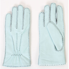 Lady Outside Sewing Sheepskin Leather Fashion Driving Gloves (YKY5174)