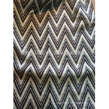 New arrival Zigzag design 100% Polyester Jacquard Curtain fabric