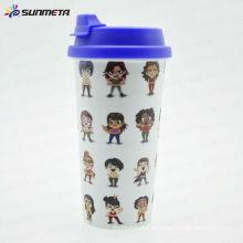 Color de la sublimación tazas color interno y color de la manija tazas taza tazas