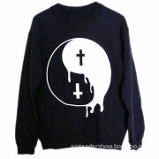 O-neck women's pullover hoodie