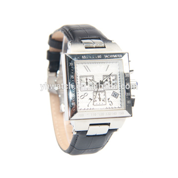 hip hop men watches with leather strap
