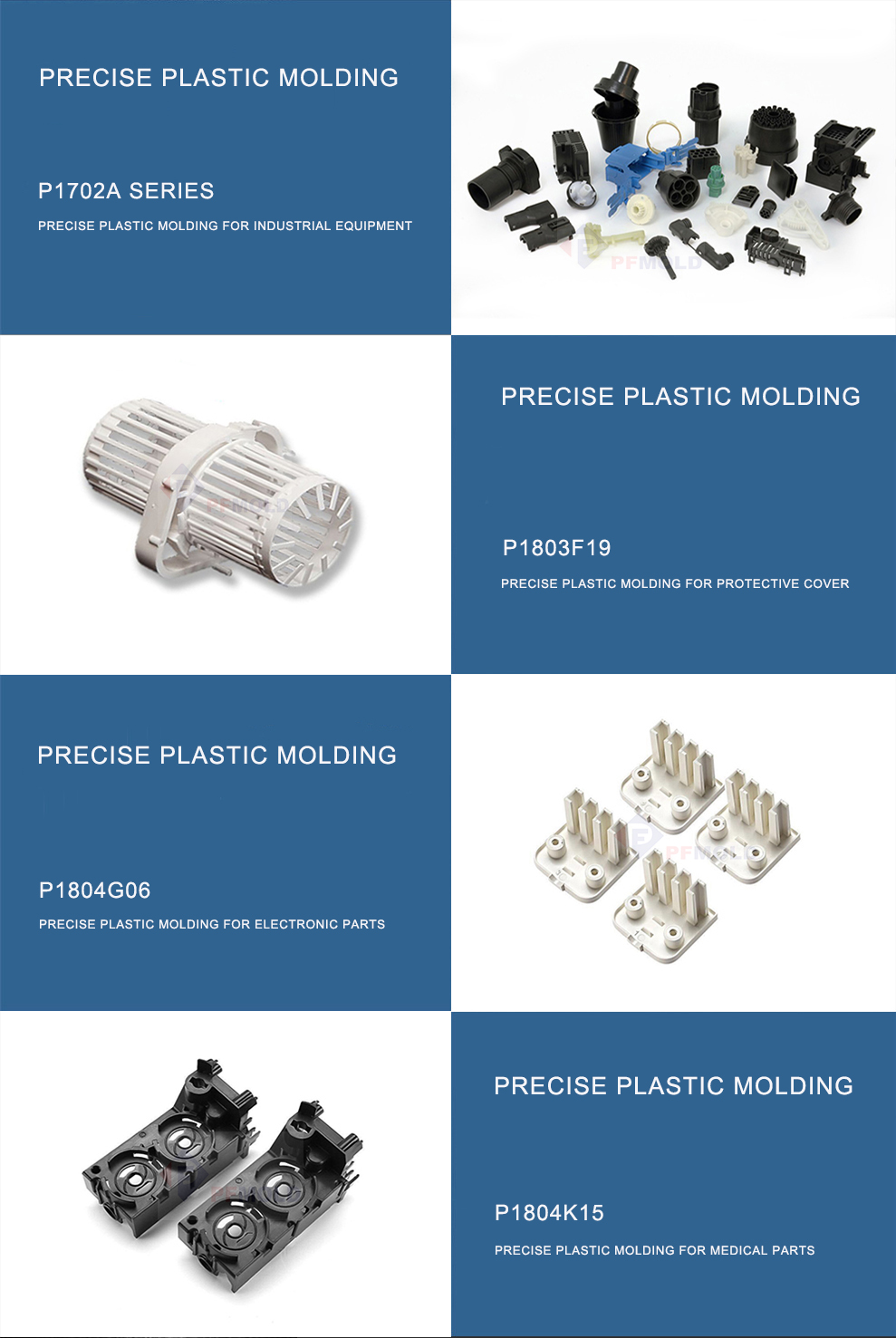 Plastic part moulding
