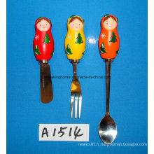 Épliqueuse au fromage / beurre décoratif de Noël avec poignée en résine