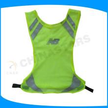 Gilet de protection en maille légère, gilet de sécurité à haute visibilité, engrenage réfléchissant pour les coureurs
