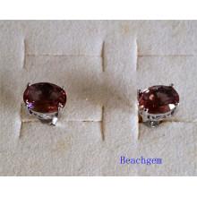 Schmuck-synthetischen Zultanite Sterling Silber Ohrring (E1586)