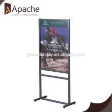 2015 Fine appearance retail shop poster stand/poster rack
