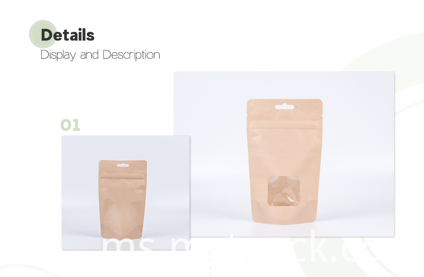 Resealable Stand Up Bags with Windows2