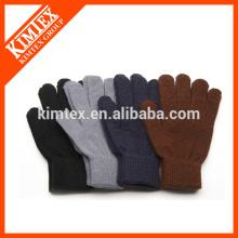 Guantes hechos a mano de acrílico de los hombres del knit de la manera