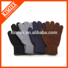 Fashion knit custom acrylic men gloves