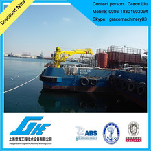 hydraulic marine ship deck crane