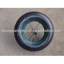 Solid rubber wheel for wheelbarrow 13 inch