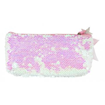 BLING PINK SEQUIN PENCIL CASE-0