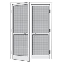 Portas de tela de alumínio duplo Fly Frame