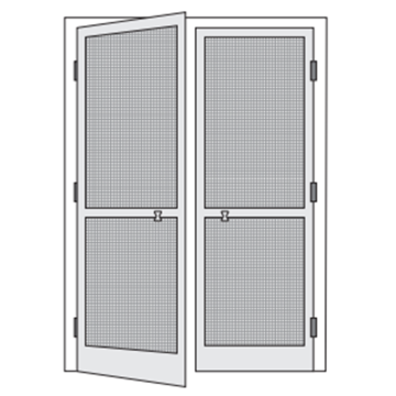Double Aluminum Frame Fly Screen Doors