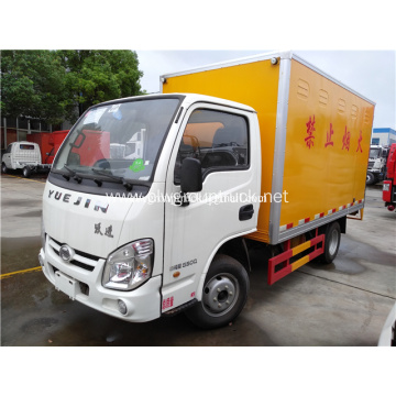 New YUEJIN 4x2 dangerous goods transport truck
