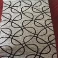 Geometrical Design Flock Fabric for Sofa
