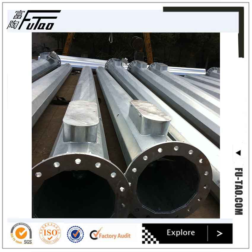 Hot dip galvanized and power coated high mast