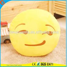 Hot Selling High quality Novelty Design Amarelo Emoji Expressão Facial Almofada de pelúcia Emoji Almofada