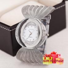 Weinlese-Gesichts-Frauen-Armbanduhr-Diamant-Eleganz-Uhr Cestbella spezielle Geschenk-Uhr