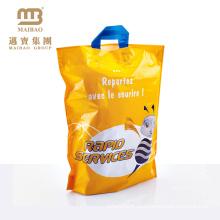 простой дизайн, обработка желтый ткань продуктовые сумки оптовая