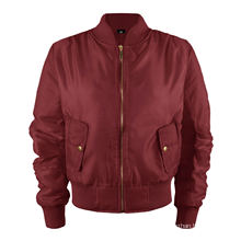 Fashion Stylish Women′s Warm Vintage Bomber Jacket