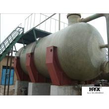 Tanque horizontal de FRP para el tratamiento de aguas residuales
