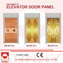 Panel de la puerta del acero inoxidable para la decoración de la cabina del elevador (SN-DP-310)