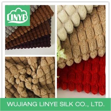 Tecido de veludo de estofamento de design exclusivo, fazendo têxtil em casa