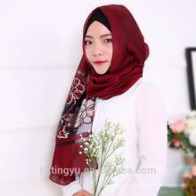 Фабрика Ханчжоу шаль макси мусульманских женщин мода черный блеск блеск хиджаб шарф