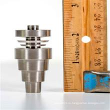 10 мм / 14 мм / 18 мм мужской / женский титановый гвоздь для курения с реверсивными долями (ES-TN-033)
