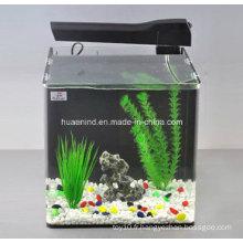 Aquarium, réservoir de poissons avec aquatique, accessoires d'aquarium