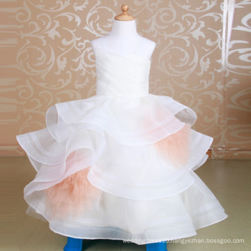 2-14 Years Flower Girl Dress Puffy Tulle Court First Communion Dress Elegant Girls Prom Gowns
