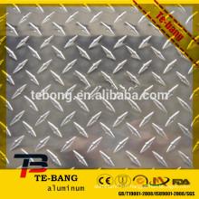 Plaque en aluminium gaufrée en marqueterie