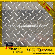 good quality and low price aluminum checkered plate for floor alloy 1100 3003 3105 5052 China supplier